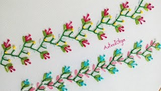 Hand Embroidery: Decorative Stitches #9 | Bordado a mano: Puntadas Decorativas #9 | Artesd'Olga