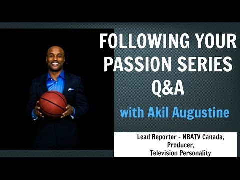 Follow Your Passion Q&A with Akil Augustine | Inspiring Words | NBATV Canada The Hangout