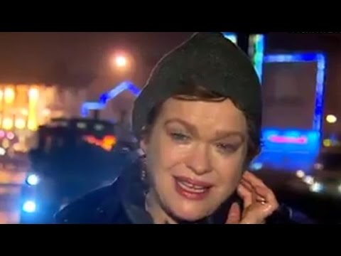 Reporter Covering Storm Blows Internet Away