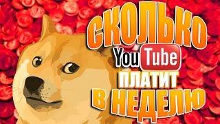 Сколько мне ПЛАТИТ YouTube В НЕДЕЛЮ