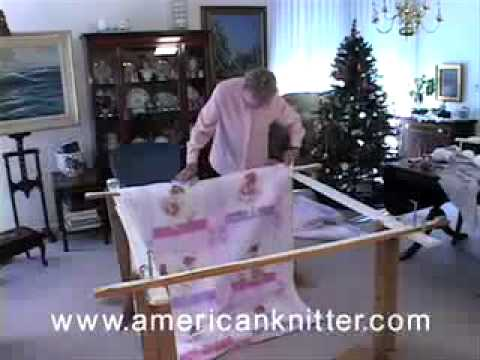 Tie Quilting How To Video 2 of 3 Attaching The Quilt to the frame ... : homemade quilt frames - Adamdwight.com
