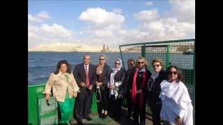 زيارة جمعية سيدات الاعمال العرب والشيخة حصة الصباج ديسمبر2014