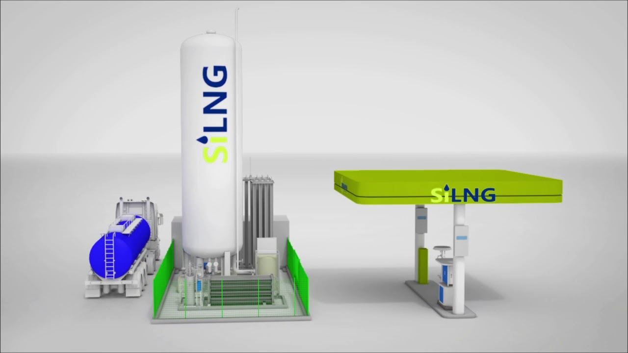 Close Gas Stations >> Butan plin filling station for liquefied natural gas (LNG) - SiLNG - YouTube