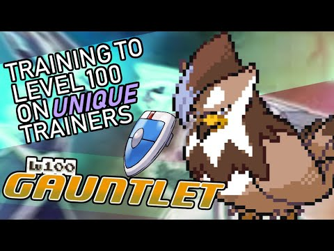 401 - Raising A Pokemon To Level 100 Without Rematching The Same Trainer Twice!! Level 100 Gauntlet!