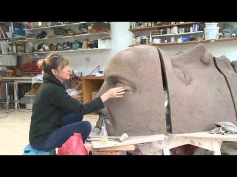 A Sculptor at work