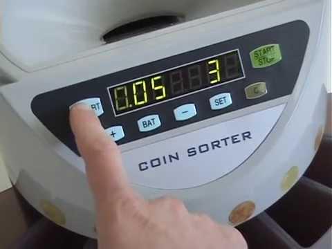 Compteuse trieuse de pièces euro avec kit d'encartouchage
