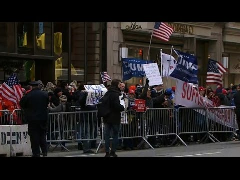 Supporters rally for Trump in New York