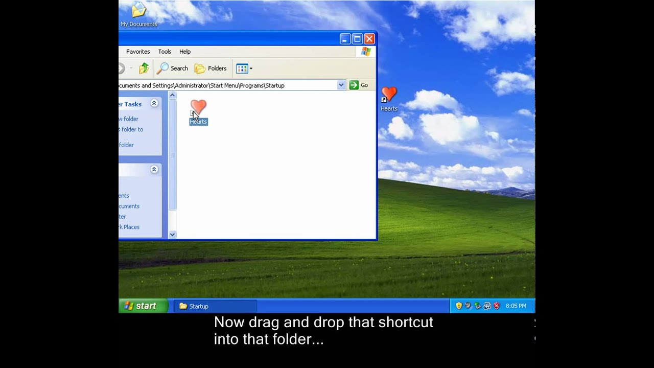 windows xp programs at startup