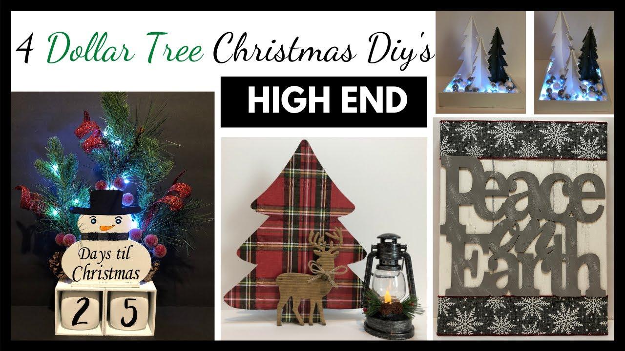 Dollar Tree Farmhouse Christmas Diy/High End Decor/Ep 5