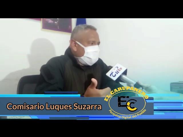 Información del comisario Luques Suzarra Policia Municipal de Bermúdez