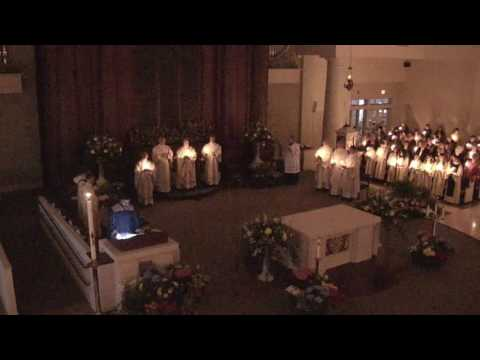 Easter Vigil ~ Opening Procession, Exultet (English) Sung by Anthony Teixeira