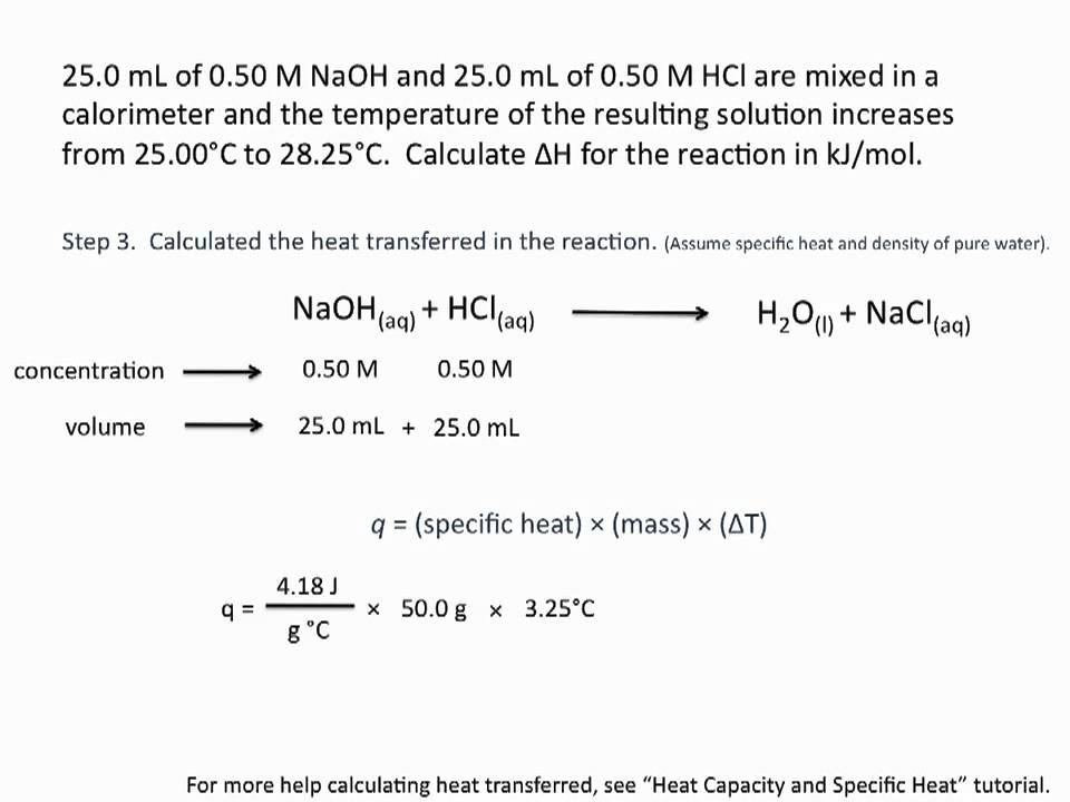 write a balanced chemical equation for the bomb calorimeter reaction On the other hand, the heat produced by a reaction measured in a bomb calorimeter (figure 7 in chapter 52 calorimetry) is not equal to δh because the closed, constant-volume metal container prevents expansion since that is the number of moles in the chemical equation, we write the thermochemical equation as.