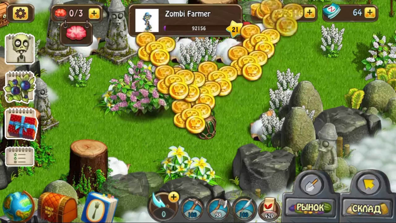 Zombie Farm: built in the game
