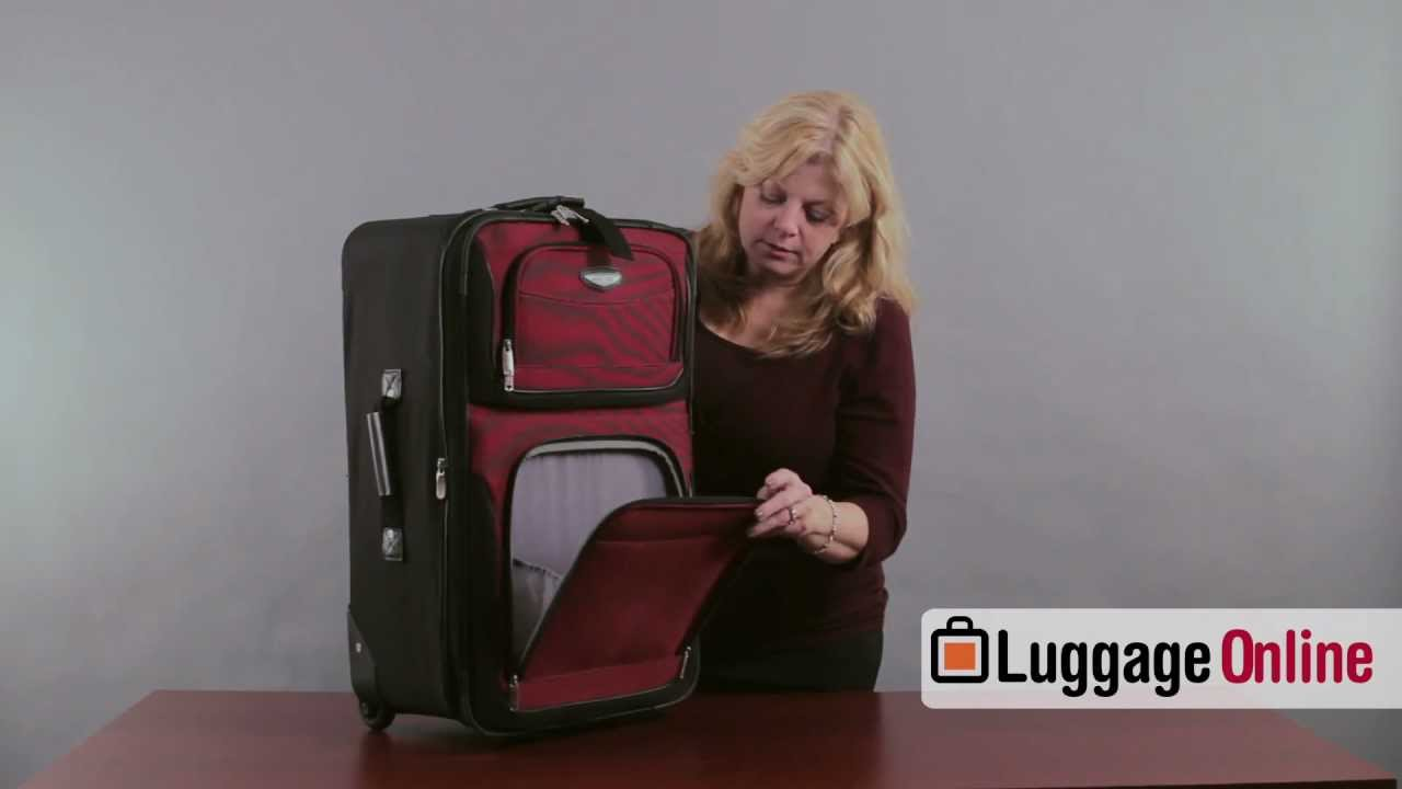 25cde90824 Travelers Choice Amsterdam 4-Piece Luggage Set Review by LuggageOnline.com  - Luggage Online - YouTube
