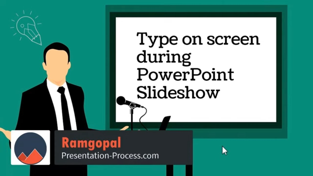 Type on Screen during Powerpoint Slideshow (Engage your students!)