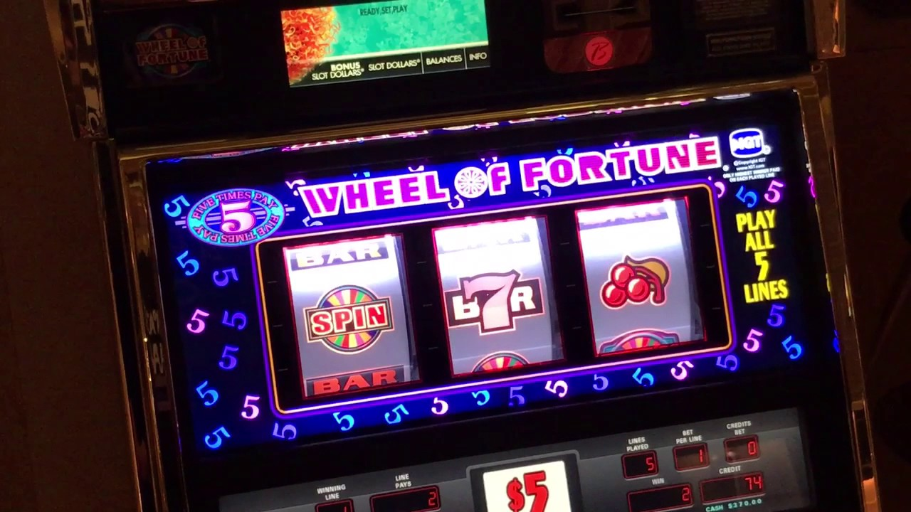 High Limit Wheel of Fortune Slot Machine Game Play at $25 ...