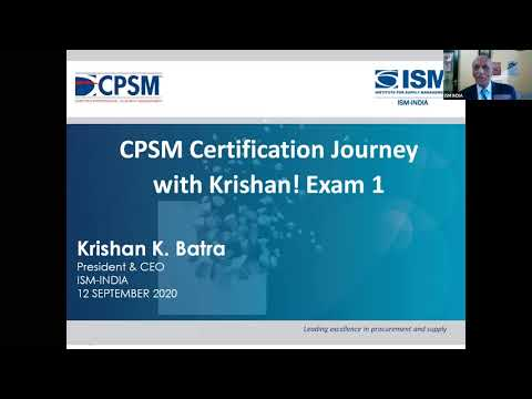 CPSM CERTIFICATION JOURNEY WITH KRISHAN! (Exam 1)