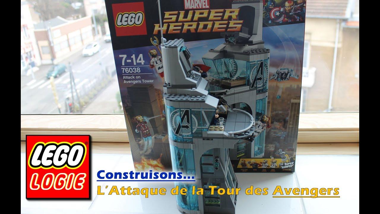 L 39 attaque de la tour des avengers lego 76038 youtube for Tour avengers