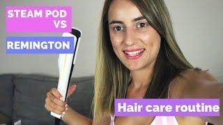 Πως περιποιούμαι τα μαλλιά μου & STEAM POD vs Απλή ισιωτική || VIA DELL' ANNA