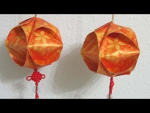 DIY Chinese New Year Lantern TUTORIAL 1