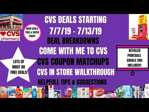 SO MANY DEALS & FREE! CVS COUPON MATCHUPS DEALS STARTING 7/7/19~COME WITH ME TO CVS DEAL BREAKDOWNS