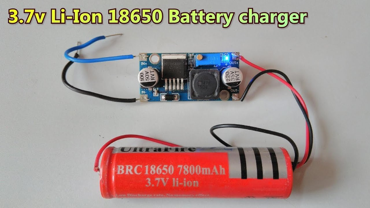 37v Li Ion 18650 Battery Charger Using Lm2596 Dc Buck Converter 1 Watt White Led Driver Single