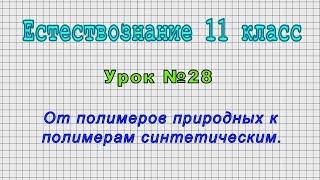 Естествознание 11 класс (Урок№28 - От полимеров природных к полимерам синтетическим.)