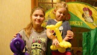 Как мы учились делать животных из шариков колбасок how to make animals with balloons