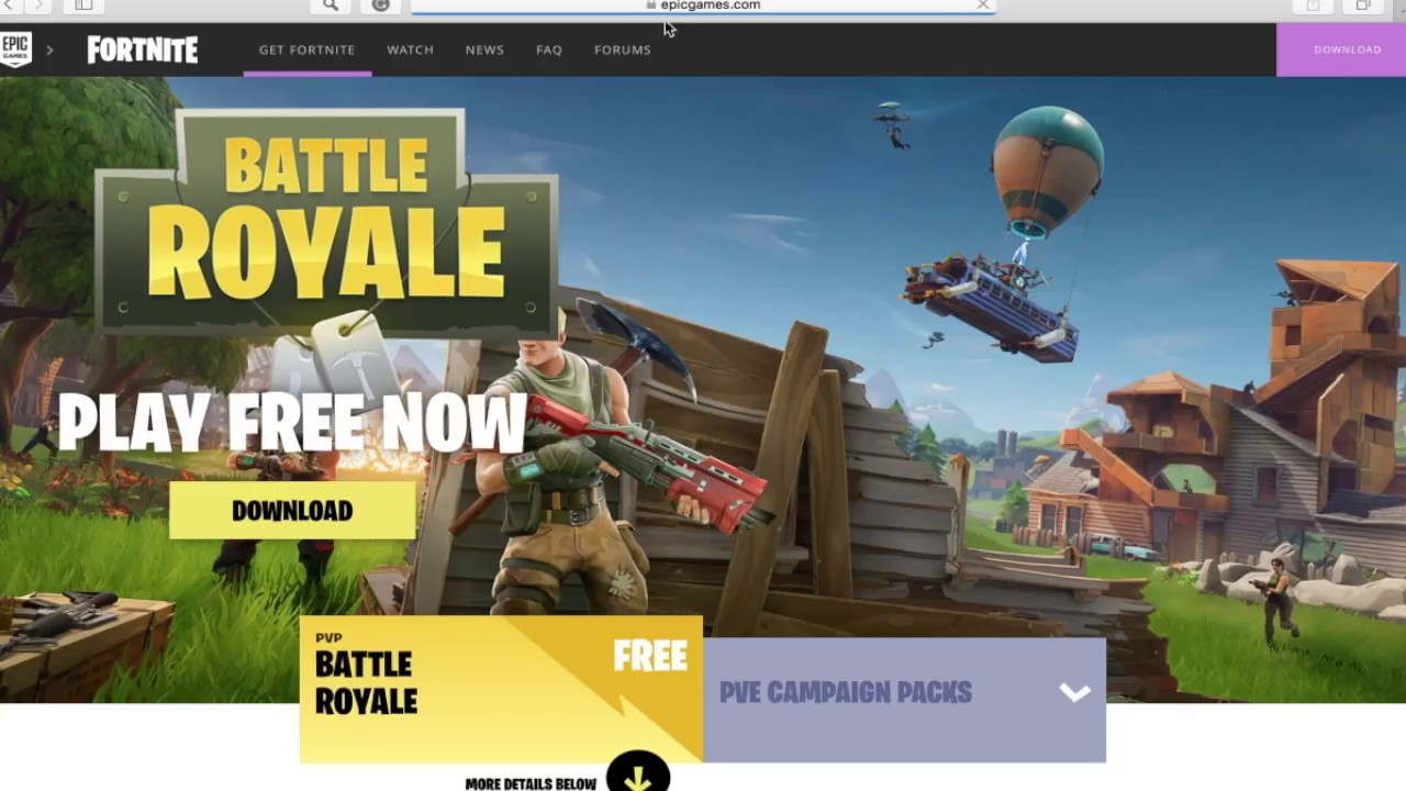 How To Download Fortnite On Mac Windows Youtube