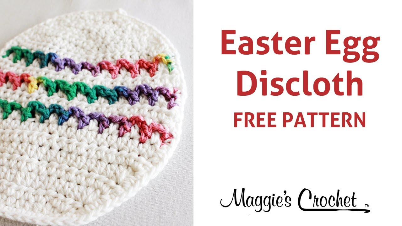 Easter Egg Dishcloth Free Crochet Pattern - Right Handed - YouTube