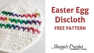 Easter Egg Dishcloth Free Crochet Pattern - Right Handed