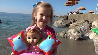 Kids pretend play with Doll and BIG CROCODILE video for kids by Joy Joy Lika