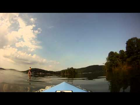 An early morning paddleboard lesson on Candlewood Lake with Candlewood Stand Up Paddleboard.