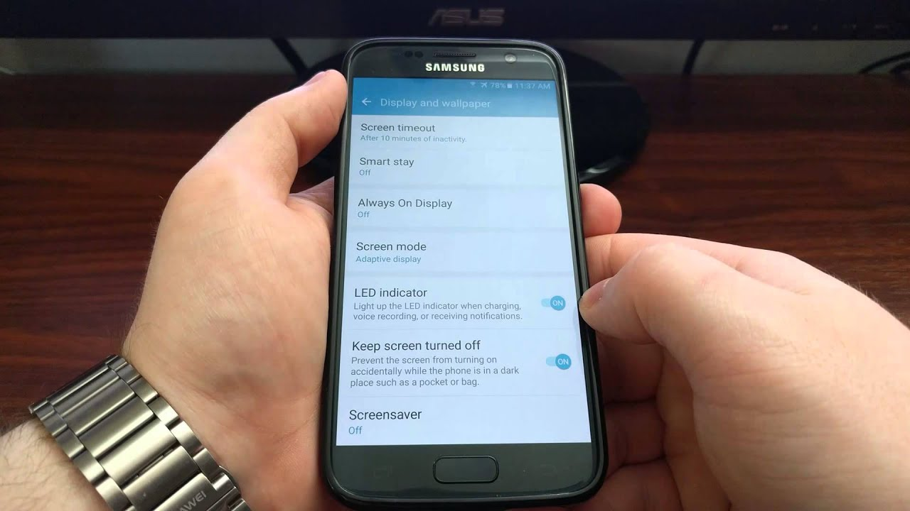 How To Turn The LED Light Off On The Galaxy S7