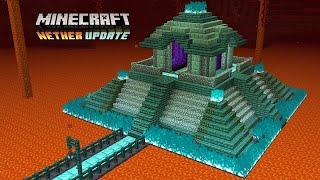 Minecraft 1.16 - Nether Portal Temple Pyramid (Speed Build)