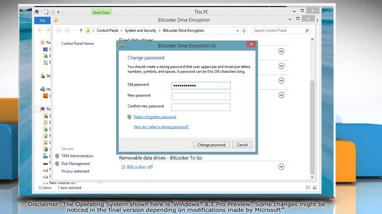 How To Change BitLocker® Encryption Password For A