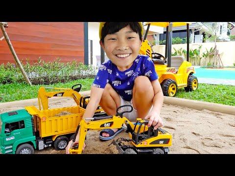 [30분] 자동차 장난감 조립놀이 예준이의 중장비 게임플레이 Car Toy with Game Play