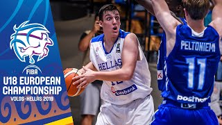 Greece v Finland - Full Game - FIBA U18 European Championship 2019
