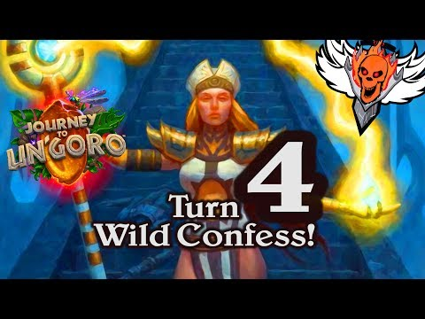 Turn 4 Confessor Palestress 🍀🎲 ~ Journey to Un'Goro ~ Hearthstone Heroes of Warcraft