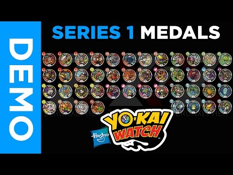 [4K] Hasbro Yo-Kai Watch  - All SERIES 1 Medals From Mystery Bags