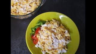 Вкуснейший салат с яичными блинчиками