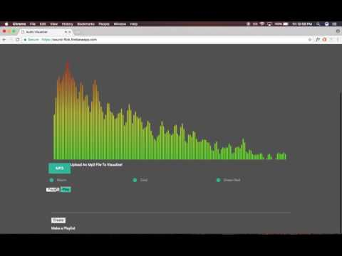 Audio Visualizer and spotify playlist generator