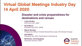 #GMID20 webinar | Disaster and crisis preparedness for destinations and venues