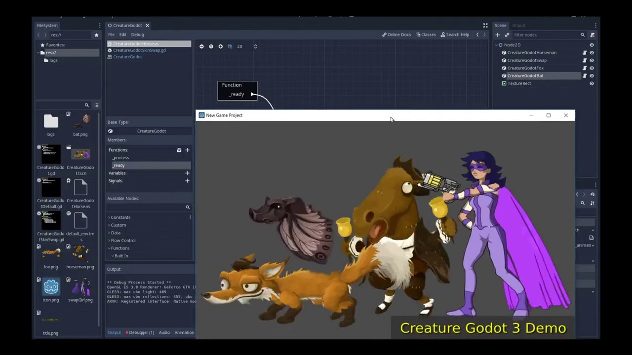 Creature 2D: Godot Engine 3 Preview