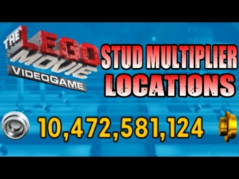 The Lego Movie Videogame - RED BRICK Stud Multiplier Locations (2x,4x,6x,8x,10x)