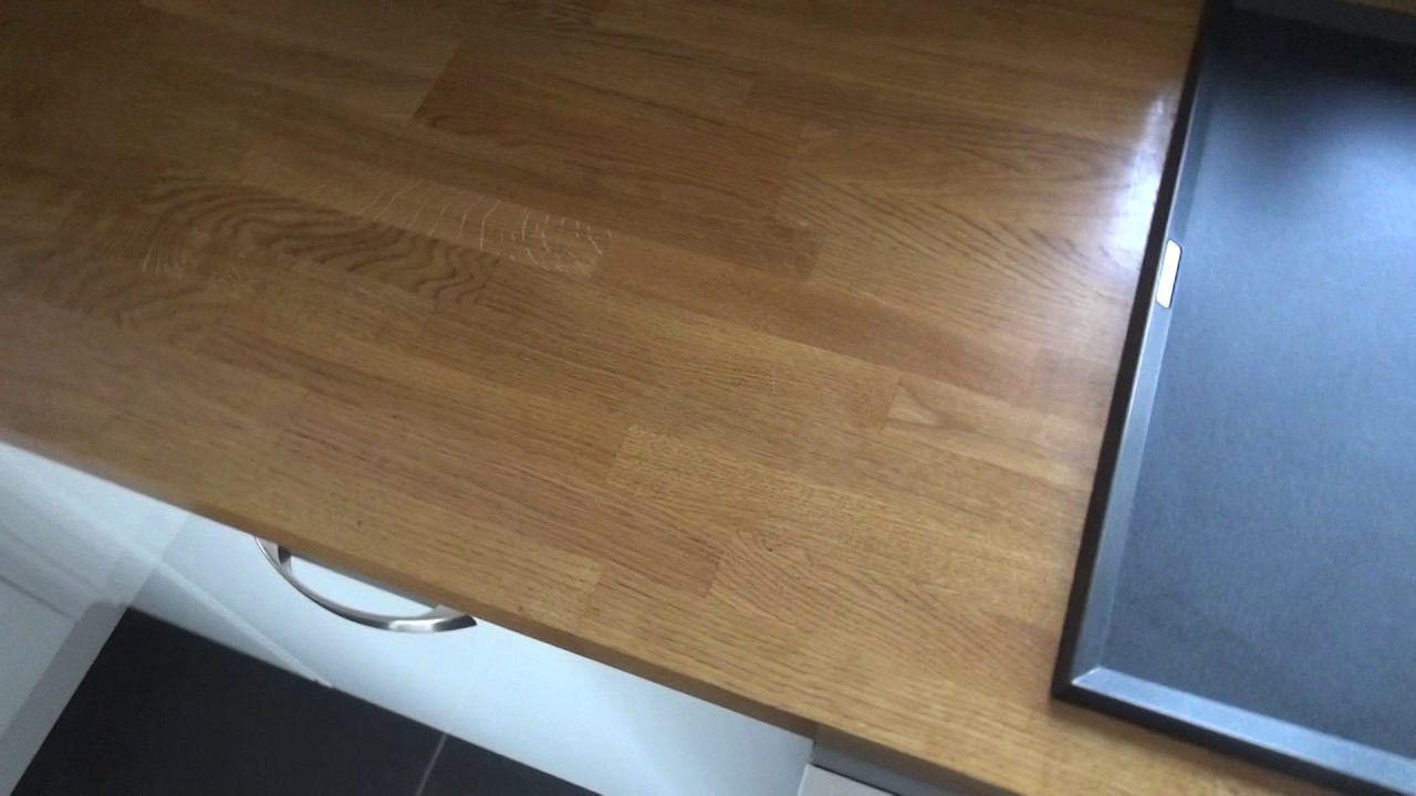 Update On Getting Out Black Stains From Oak Work Tops Youtube