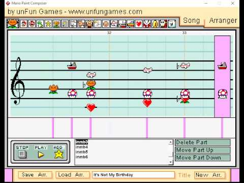 Mario Paint Composer - They Might Be Giants - It's Not My Birthday