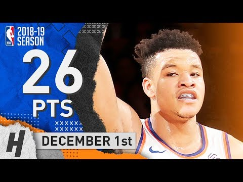 Kevin Knox Full Highlights Knicks vs Bucks 2018.12.01 - 26 Pts, 4 Ast, 4 Rebounds!