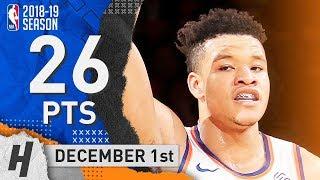 Kevin Knox Full Highlights Knicks vs Bucks 2018.12.01 - 26 Pts, 4 Ast, 4 Rebounds!