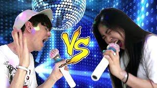 EPIC KOREAN KARAOKE CHALLENGE!   KOREA vs ITALY